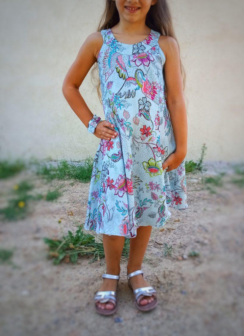Robe mi longue petite fille printemps ete titalee fabrics