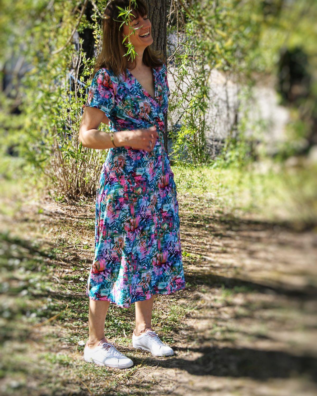 robe mi longue femme titalee fabrics été