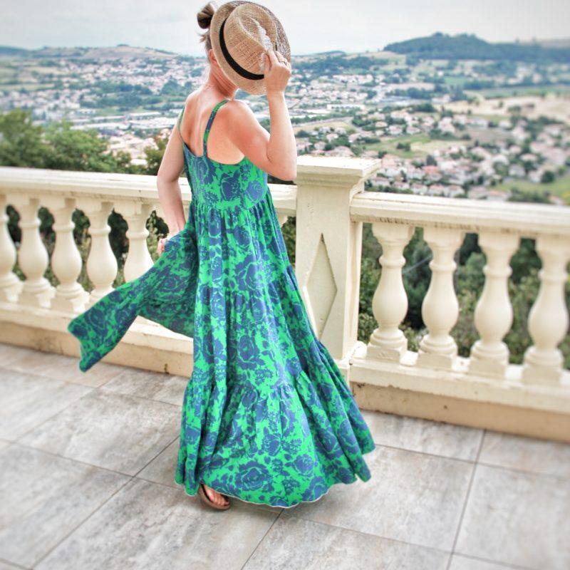 robe verte bleue femme collection printemps ete