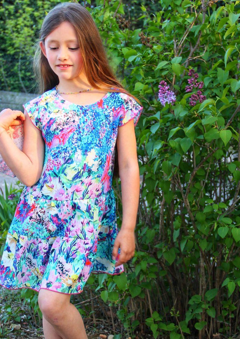 TITALEE robe fille LALITA floral bleu lilas (1)