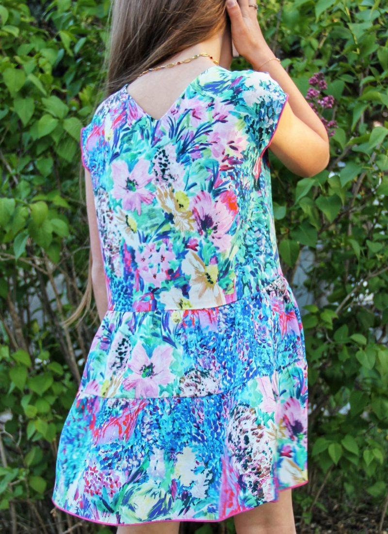 TITALEE robe fille LALITA floral bleu lilas (2)