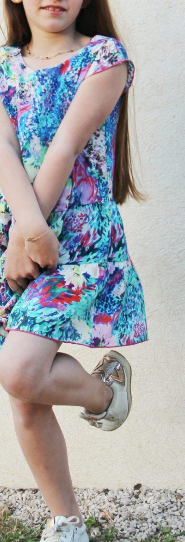 TITALEE robe fille LALITA floral bleu lilas (6)